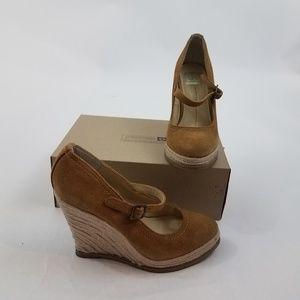 dv dolce vita wedges heels 8.5 M tan espadrille